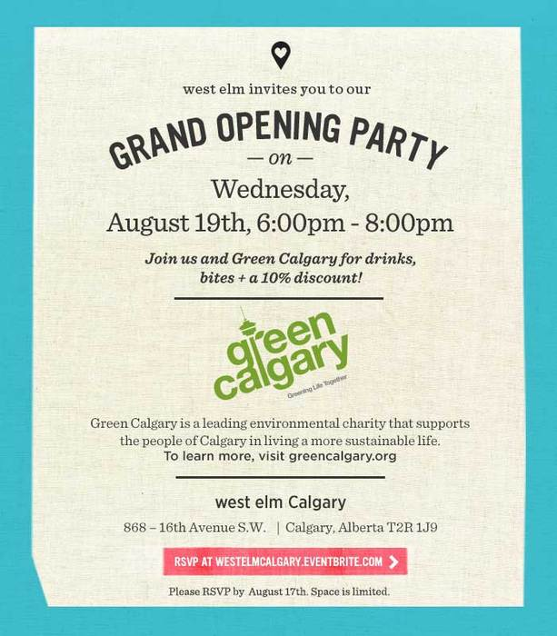 West Elm Grand Opening Party