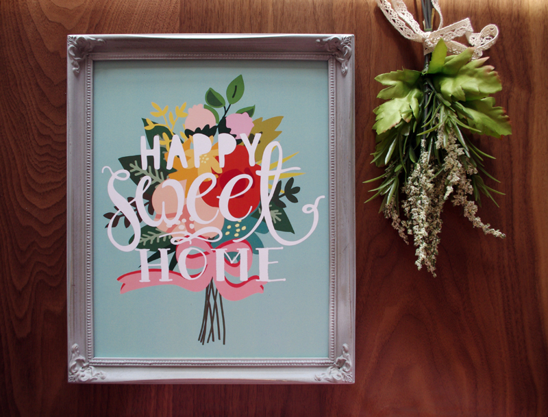Happy Sweet Home Art Print