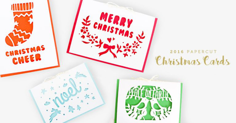 2016 Papercut Christmas Cards Bundle The Paper Lover Co